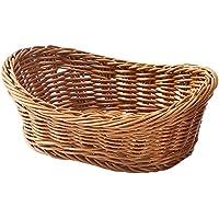山下工芸(Yamasita craft) 樹脂手編舟型バスケット20型 茶 59191000