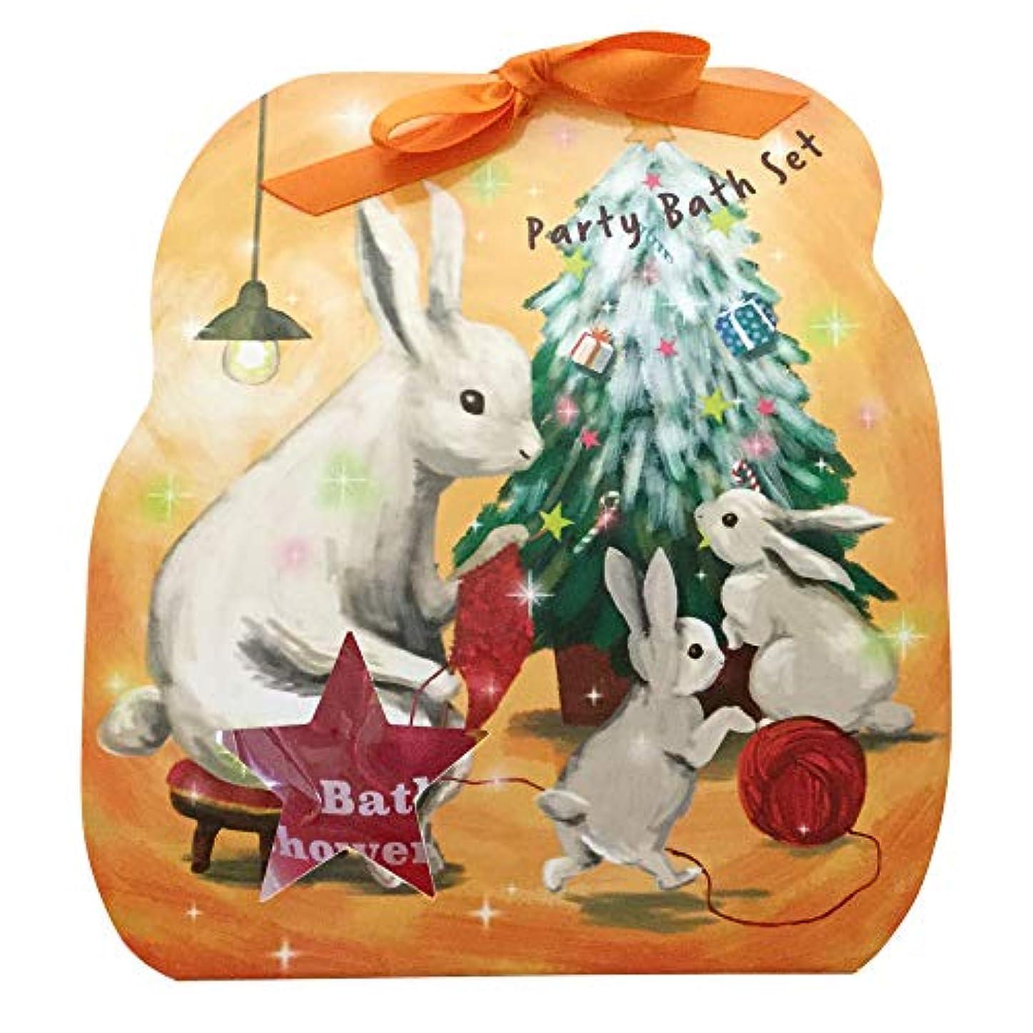 私バーガーオン【ラビット(60683)】 チャーリー クリスマスペーパーギフト 入浴品3点、シャワージェル1点入り