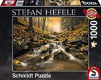 1000ピース ジグソーパズル Schmidt-Spiele 山 森 川 Hefele: Fairytale creek 49.3×69.3cm 59385