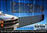 ブラックステンレススチールegrilleビレットグリルグリルfor 88–93シボレーC / Kピックアップ/ 92–93Suburban /ブレザー
