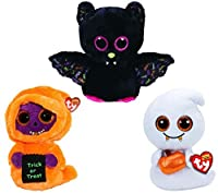 Ty Beanie Boos 2017 Medium Size 13 Inch Halloween Collection: Dart Scream and Skelton! [並行輸入品]