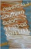 Southern Solar; 11-03-08  08/11/11 (English Edition)