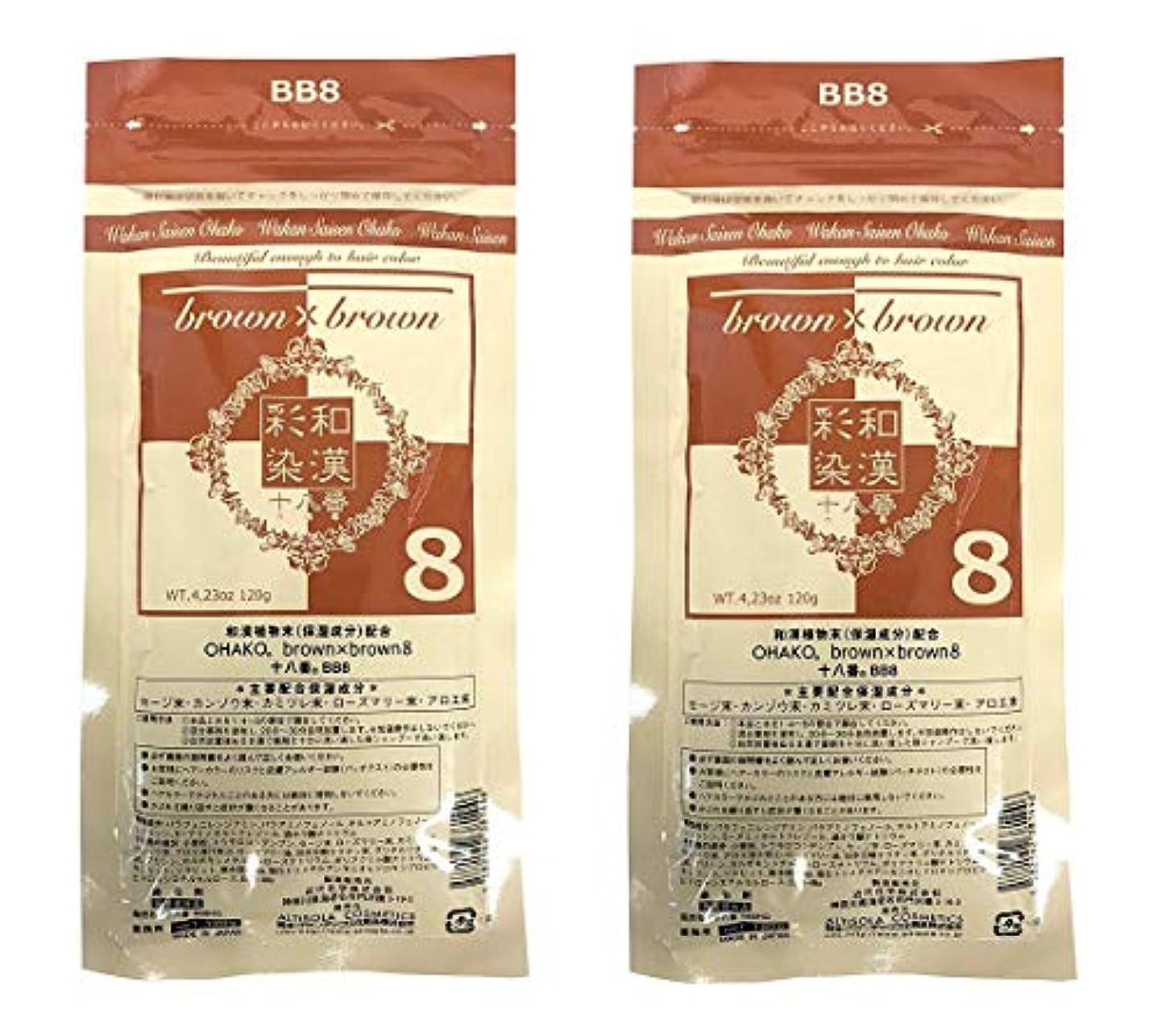 多様な運営膜【2個セット】グランデックス 和漢彩染 十八番 120g BB8