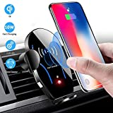 BLIENCE Wireless Car Charger Mount,Auto-Clamping 10W Qi Max Fast Car Phone Charging Holder Air Vent Compatible with iPhone 11 Pro Max/XS Max/XS/XR/8 Plus,Samsung Galaxy Note S10/S9/S8 Other Smartphone