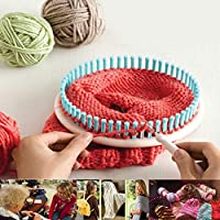 DIY手作りラウンドセーターウィーバー, 4サイズプラスチックラウンドニッター織機, 羊毛糸編機帽子クラフト靴下メーカー(カラフル)