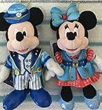 TDS 15周年 東京ディズニーシー 限定 ミッキー ミニー ぬいぐるみバッジ 2種