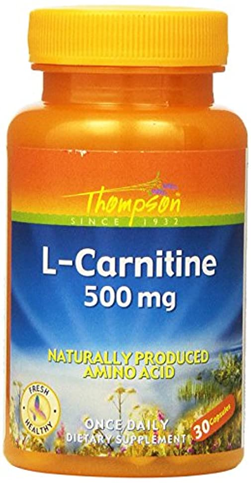 緊急若者のみ海外直送品 Thompson Nutritional Products L-Carnitine, 500 MG, 30 Caps 500 mg