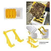 Fityle 養蜂家のため 受粉箱ボックスセット+ ハニーバケツホルダー 飼育ツール 便利グズ 品質保証 大人気