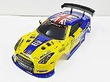1/10 ドリフトラジコンカー用 スペアボディー R35 GTRタイプ 黄