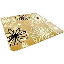花 柄 あったか ボア ラグ 『ナウシカ』 長方形 約3帖 約190cm × 240cm ベージュ