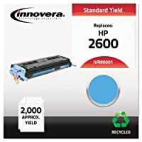 Innovera 86001 Compatible, Remanufactured, Q6001A (124A) Laser Toner, 2000 Yield, Cyan (IVR86001) by Innovera