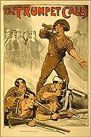 24x 36ポスター; The Trumpetコール、オーストラリア陸軍採用ポスターWorld War I