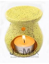 Expressive香りセラミックBurner for Oil andワックスMelts – Fragrance Oil Warmerランプイエロー26 – 17