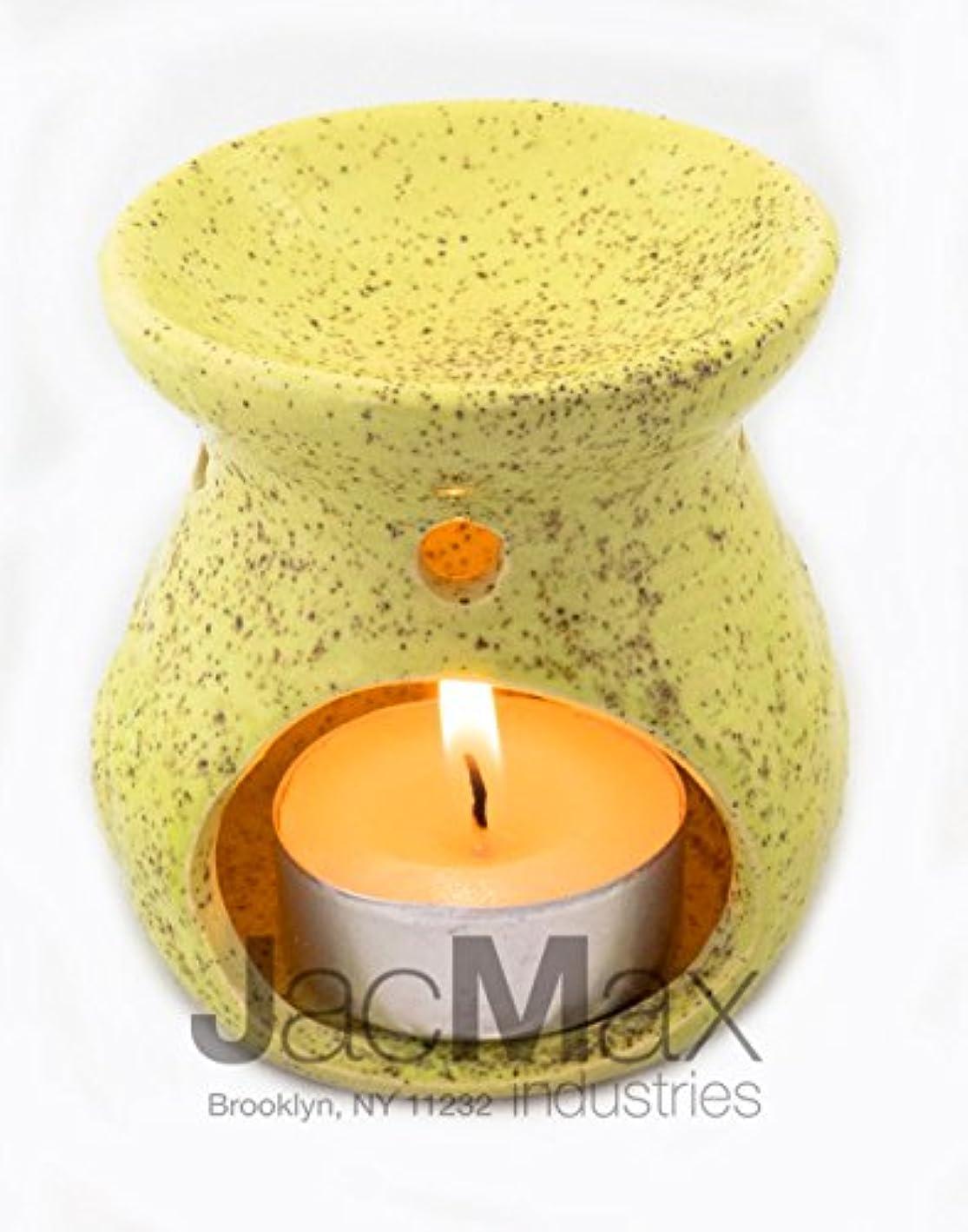 ノイズ手木製Expressive香りセラミックBurner for Oil andワックスMelts – Fragrance Oil Warmerランプイエロー26 – 17