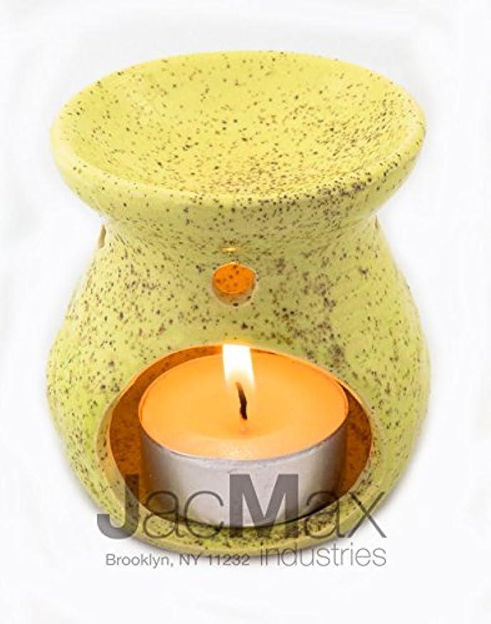 廊下マンハッタンインディカExpressive香りセラミックBurner for Oil andワックスMelts – Fragrance Oil Warmerランプイエロー26 – 17