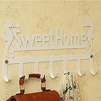 ウォールハンガー 6メタルフック壁装飾レタリング/シーサイドココナッツ木39 * 23センチメートル鉄(2色、2つのスタイルはオプション) TINGTING (色 : 白, サイズ さいず : B)