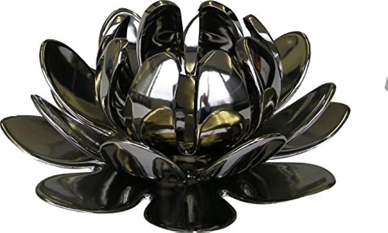見分けるモンク抵抗するマルエス 燭台 陶器製三連 ロータス 大 シルバー