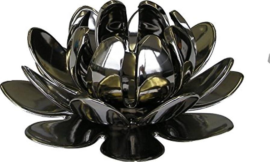 かび臭いトレード金曜日マルエス 燭台 陶器製三連 ロータス 大 シルバー