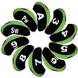 Best Anduxゴルフクラブ - Andux ゴルフ クラブ アイアンカバー ヘッドカバー 10個セット ブラック/グリーン MT/S01 Review