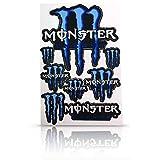 選べる4色! モンスターエナジー カラーステッカー 耐水 PVC材質 (ブルー)