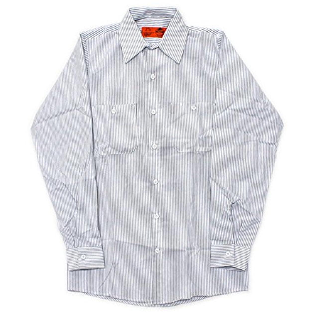 特徴オーナー前任者RED KAP(レッドキャップ)/LONG SLEEVE STRIPE WORK SHIRTS(長袖ストライプワークシャツ) M White/Gray