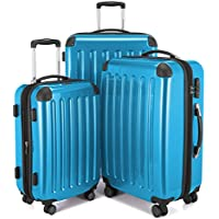 HAUPTSTADTKOFFER Luggages Sets Glossy Suitcase Sets Hardside Spinner Trolley Expandable(20', 24' & 28') TSA
