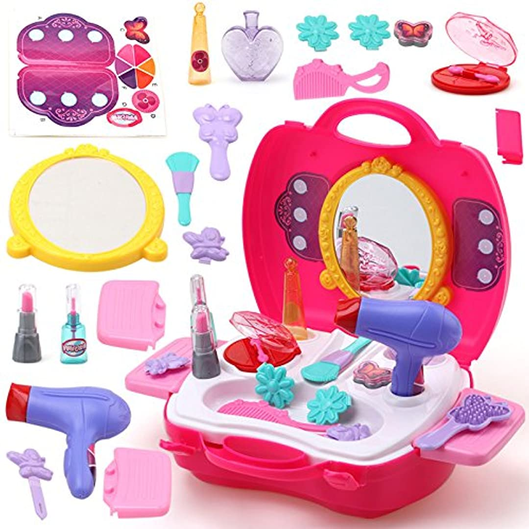売る傑出した衝動Liebeye ポータブル プラスチック化粧品のケース おもちゃ 教育おもちゃ ギフト 赤ちゃん 女の子