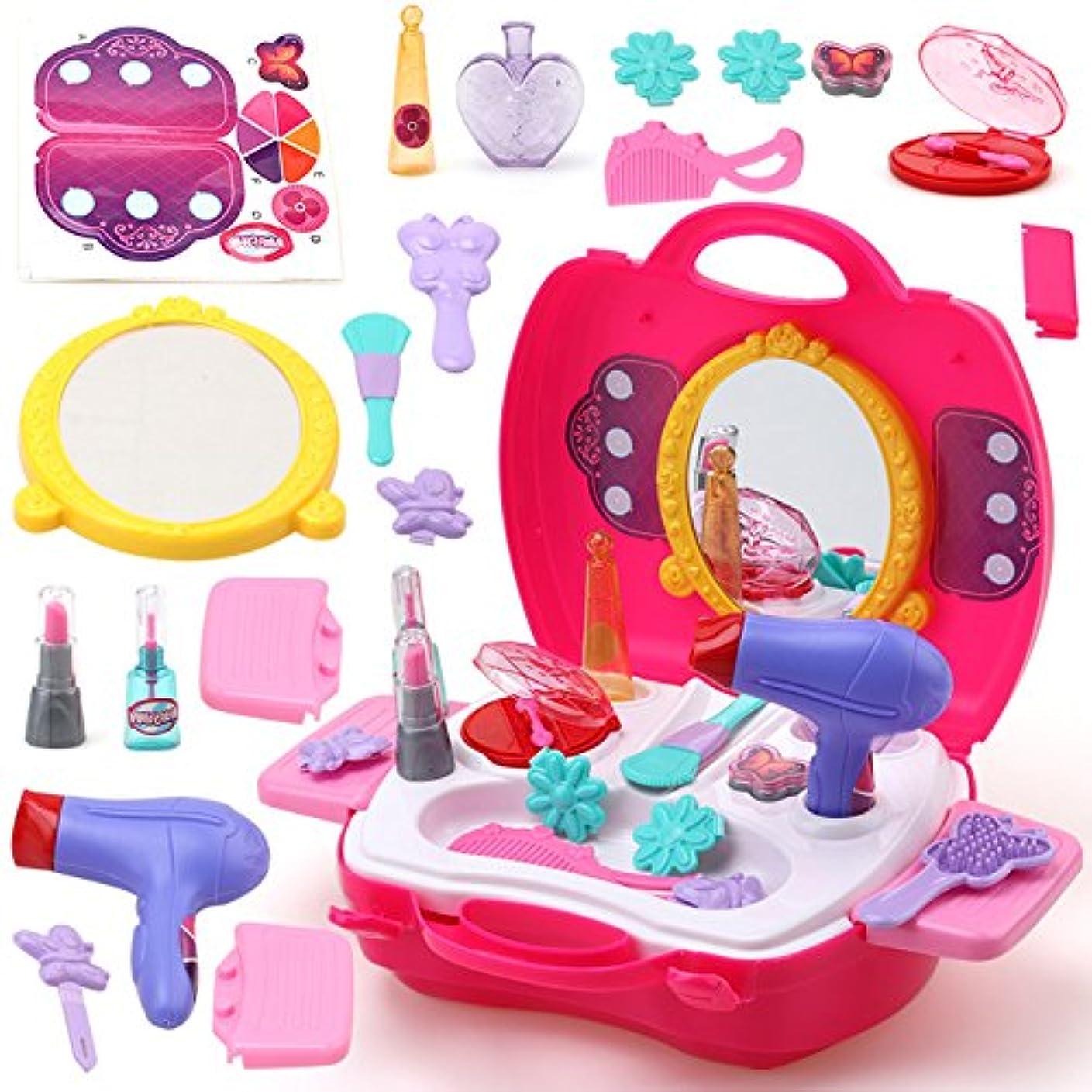 シャトル最小化するキネマティクスLiebeye ポータブル プラスチック化粧品のケース おもちゃ 教育おもちゃ ギフト 赤ちゃん 女の子