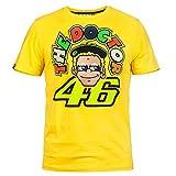 VR46 (motoGP正規輸入品) Valentino Rossi(バレンティーノ・ロッシ) TEE DOCTOR46_YELLOW_Size/M コミック.