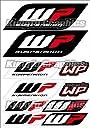 KUNGFU GRAPHICS カンフー グラフィックス WP フォーク レーシングスポンサーロゴ マイクロデカールシート (ブラック)