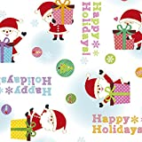 タカ印 ラッピングペーパー クリスマス 包装紙 49-3556 ホリデイズギフト 半才判 10枚巻