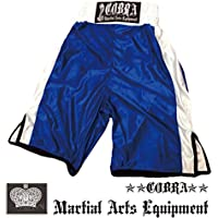 COBRA LIGHT BOXING SHORTS BLUE SIDE WHITE