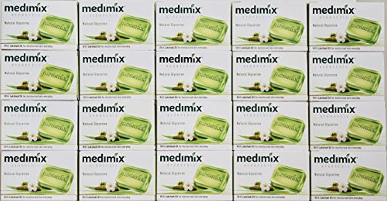 側溝ワーディアンケースグレートオークメディミックス MEDIMIX ナチュラルグリセリン(旧クラシックライトグリーン)石鹸 20個入り 125g