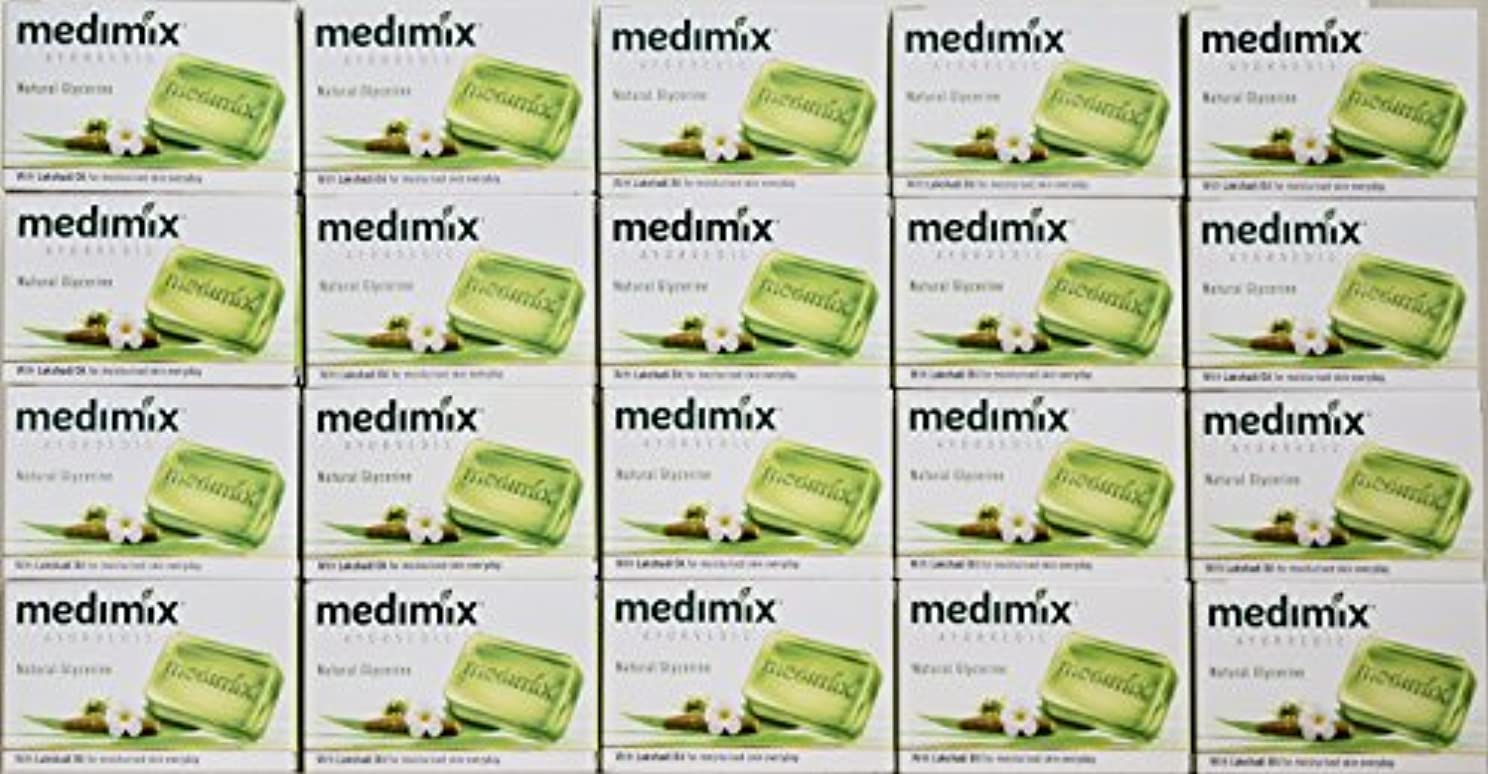 熟練した旅行刈るメディミックス MEDIMIX ナチュラルグリセリン(旧クラシックライトグリーン)石鹸 20個入り 125g