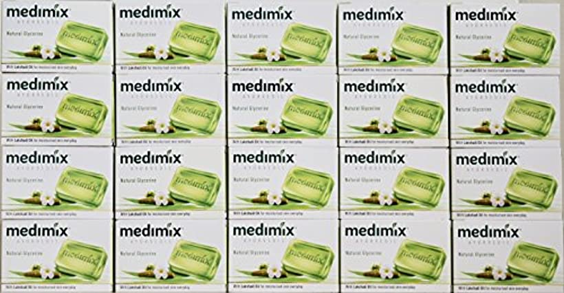 ベリ辞書形メディミックス MEDIMIX ナチュラルグリセリン(旧クラシックライトグリーン)石鹸 20個入り 125g