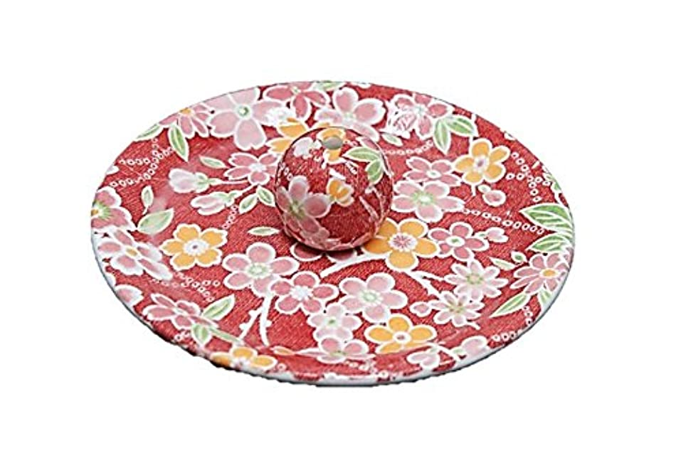 しなければならないクモヘルパー9-24 都友禅 9cm香皿 お香立て お香たて 陶器 日本製 製造?直売品