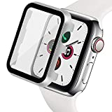Ritastar for Apple Watch Case with Screen Protector 40mm,Overall Metal Cover and Hard PET Film,High Sensitive Touch,Anti Scratch,Bubble Free,Full Courage for NEW GPS iWatch Series 5,4 Women Men,Silver