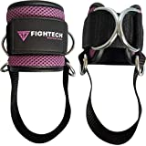 FIGHTECH Ankle Straps for Cable Machines: Fitness Cuff for Men & Women, Strong Brace with Thick Padding for Comfort & Stability Easily Adjustable Band - for Leg, Hip, Calf & Glute Exercises