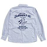 (テッドマン)TEDMAN ヒッコリーストライプ長袖ワークシャツ TSHB-1100HC エフ商会 アメカジ ヒッコリー M