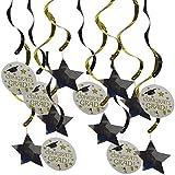 Blesiya 約15枚 ガーランド 天井装飾 星 角帽 卒業式 お祝い パーティー 飾り付け 写真小物