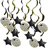 Homyl 約15枚 ガーランド 「Congrats Grad」 バナー 天井装飾 星 角帽 卒業パーティー 背景装飾 盛り上げ