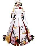 Fate FGO セイバー saber コスプレ衣装  花嫁衣装 ドレス ワンピース ウェディングドレス (女性M)