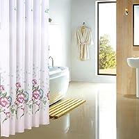 シャワーカーテン、より厚い防水防カビのポリエステル素材シャワーカーテン150x180cm、300x200cm ( サイズ さいず : 180*180cm )