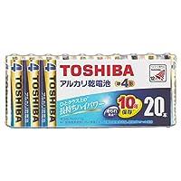 東芝 単4形アルカリ乾電池 20本入り My&Our LR03HE 20MP(MO)