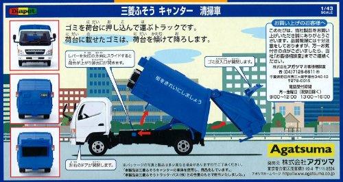 ダイヤペット DK-5106 1/43スケール 三菱ふそうキャンター清掃車