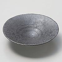 イブシ黒 平鉢 [ φ19 x 4.7cm ] 【 向付 】 【 料亭 旅館 和食器 飲食店 業務用 】