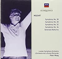 Mozart: Sym No 28 / 29 / 32 & 34 / Ser Notturna by MAAG / ORCHESTRE DE LA SUISSE ROMANDE (2006-06-19)