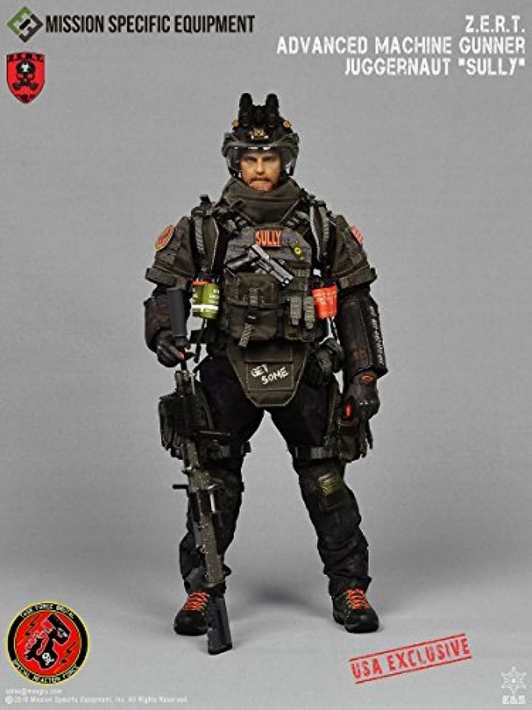 MSE ZERT Juggernaut Machine Gunner Sully USA Exclusive Mint in Box 1/6 Action Figure [並行輸入品]