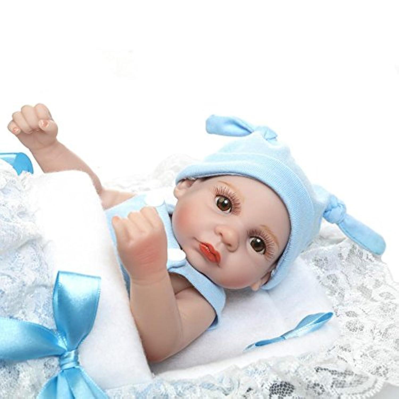 10インチミニベビー人形Fullビニールリアルな解剖学的に正しいBoy Kids洗濯人形おもちゃwith Sleepingバッグ