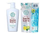 hadakara(ハダカラ) ボディソープ 保湿+ひんやりタイプ クールフレッシュの香り セット 本体460ml+詰替320ml